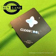 Tissu maillé 100% polyester Coolpass antistatique à ajustement à sec pour vêtements de sport