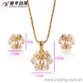 62654-Xuping 18K Gold Plated Fine Jewelry Elegant Crystal Jewelry Set