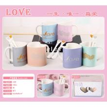 Heart Shaped Love Mug with Spoon