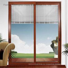 Ventana de vidrio corrediza comercial de aluminio con calidad superior (FT-W85)