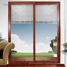 Fenêtre en verre coulissante commerciale en aluminium avec la meilleure qualité (FT-W85)