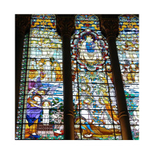 Chinese custom patterns insulated sound proof church stained glass windows