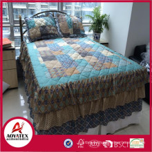 Reasonable price high quality patchwork bedding sheet set for homeuse