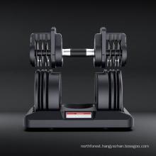 Hex Rubber Black Painted Kettle Bell Fitness Weight Training All Steel Gym Neoprene Vinyl Hex Dumbbell