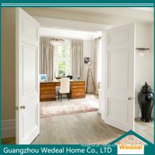 Personalize a porta de entrada aprontada branca luxuosa do dobro do MDF para a casa de campo