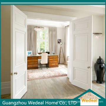 Personalice la puerta de entrada blanca doble de lujo MDF para Villa