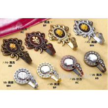 Customized metal decorative curtain tieback hooks/holdbacks/holder