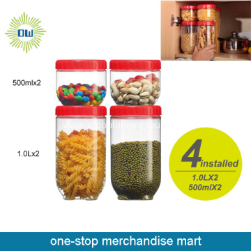 plastic food jar with lid