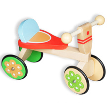 4 wheels super cute wooden walking bike for kids