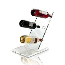 Freie Standing Clear Acryl Display für Weinhalter