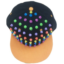 New arrival colorful rivets spike snapback cap flat brim cap
