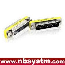 Adaptador db25 pin macho para sexo feminino