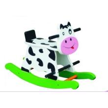 Chaise de bébé en bois mignon Cow Rocker pour enfants et enfants
