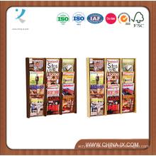 Wooden 12 Pocket Wall Display mit klaren Frontplatten