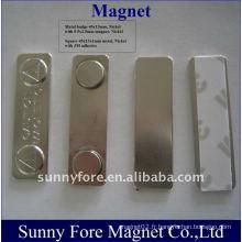 badge magnétique; badge nominatif avec dos magnétique