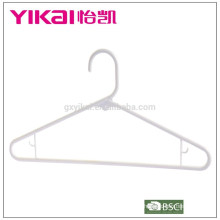 Bulk PP plastic trousers/shirt/skirt hanger in China in white color