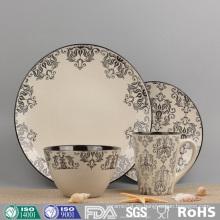 Juego de vajilla de cerámica con vidrios personalizados