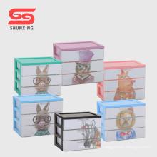 Multipurpose mini plastic storage desk organiser with drawer