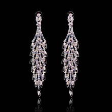 2015 New design European and American  crystal earrings diamond resin earrings