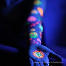 Фоточувствительный татуировки светятся в темноте человека поддельные боди-арт временные татуировки наклейки