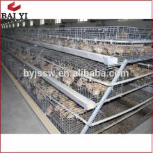 Cages croissantes de poussin de type H, distributeur de poussins de bébé Kenya, cage de treillis métallique de vison