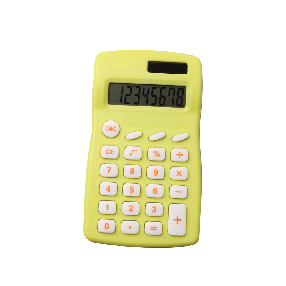 Dual Power Colorful Pocket Calculator voor Schoolpapier