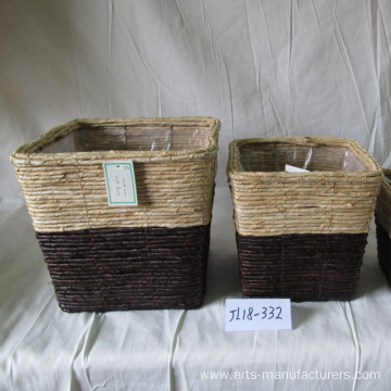 Lowest Price for China Rattan Flower Pot,Indoor Flower Pots,Rattan Garden Pots Manufacturer and Supplier Square Maize Rope Storage Flower Pot supply to United States Manufacturers