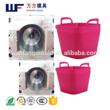 Kitchen/bathroom plastic injection Soft storage basket mould made in China/plastic injection PE Soft storage basket mold