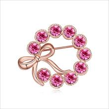 VAGULA rosa voller Liebe vergoldete Brosche