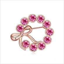 VAGULA Pink Full Love Gold Plated Brooch