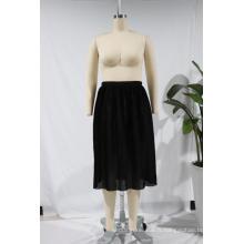 Dernière conception de jupe longue jupe jupon en polyester une ligne