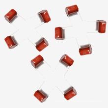 Condensador metalizado Mkt-Cl21 de la película de poliéster 15UF 5% 100V para el sistema de corriente alterna de baja tensión