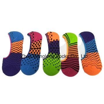 Леди мода лето Invisble хлопчатобумажные носки