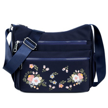 Small Nylon Shoulder Bag Embroidery Women Bag