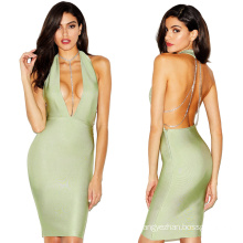 Slip Bandage Dress Ring Collar Bandage Dress