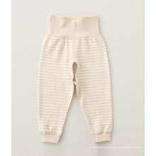100% algodón color natural pantalones de bebé, ropa de bebé