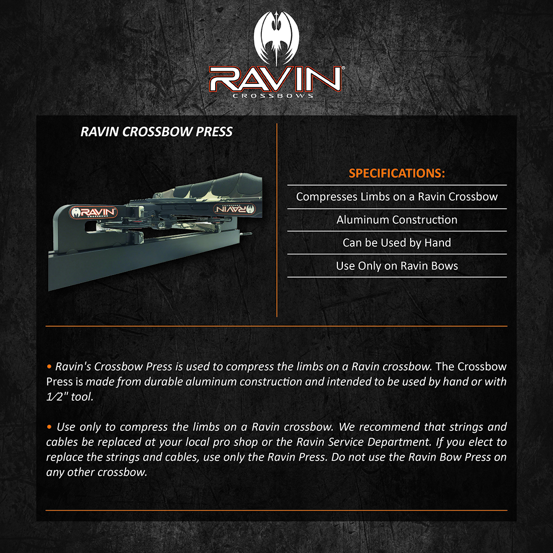 Ravin_Crossbow_Press_Product_Description