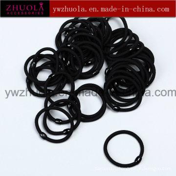Чёрный эластичный комплект для волос