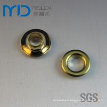 Types d'oeillets métalliques d'accessoires de vêtement
