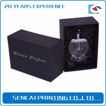 Kleiner leerer Parfümkasten des kundenspezifischen schwarzen Luxuspapiers kleiner