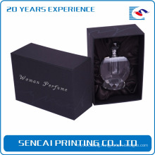 Custom black luxury paper small cardboard empty perfume box