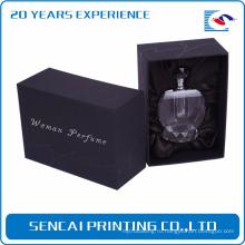 Изготовленные на заказ черные роскошные бумажные маленькие картонные пустые коробки дух