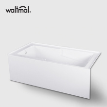 Alcove Bathtub with Left and Right Hand Drain