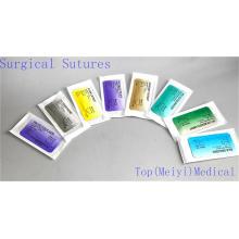 Chirurgische Naht mit Nadel (Catgut / PGA / Nylon / Seide)