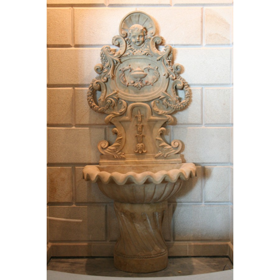 Carved Stone Wash Basin