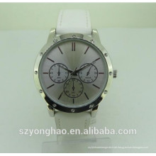 Luxuxgewohnheitdesign-Japan-Quarzhandgelenk google Uhr mit leathe Bügel