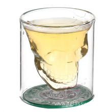 Borosilicate Double Wall Skull Wine Glass