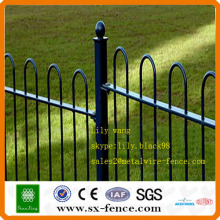 popular custom made welded steel pipe fence
