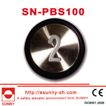 30mm Push Button for Otis (SN-PBS101)