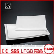 Fabrication de porcelaine P & T simplement plaques, plaques rectangulaires, plaques de viande